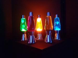 Lava lampen in allen farben